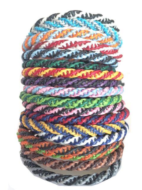 Fair Trade Wax Cotton Thai Buddhist Wristband Classic Handcrafted Wristwear