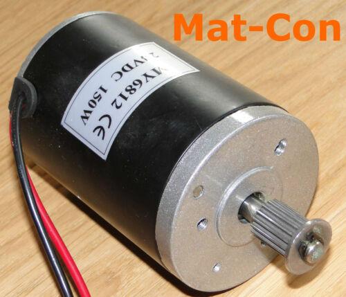 Bürsten E-Motor 150W 12V DC 0,56Nm 2500rpm Welle 8mm Kühler Lüfter cooling fan
