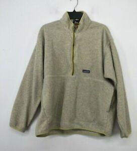Patagonia-Synchilla-Womens-1-4-Zip-Stand-Up-Collar-Fleece-Kangaroo-Sweater-XL