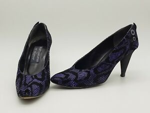 fe3fc249d831 Stuart Weitzman for Mr. Seymour Pumps Purple and Black Snakeskin ...