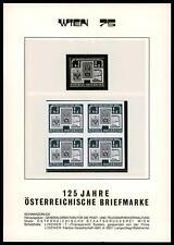AUSTRIA - 1975 - Giornata del francobollo - Quartina non dentellata