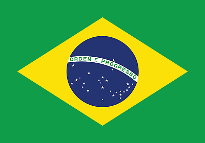 Brazil Flag Bügelbild Markenqualität Waschbar Bis95°c H7cmxb10cm
