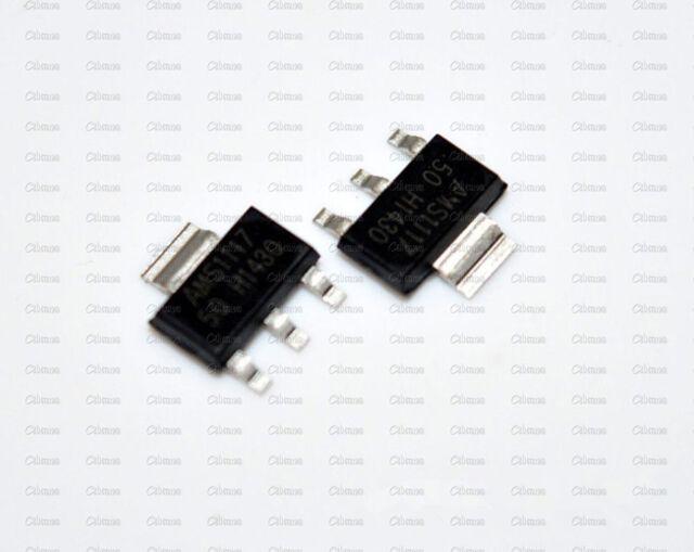 10Pcs AMS1117 LM1117 5V 1A  SOT-223 Voltage Regulator