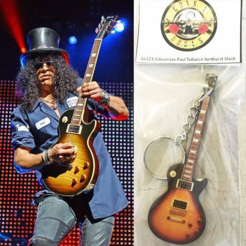Keychain Guitar Gibson Les Paul Tobacco Slash Guns N Roses Brand New Sealed
