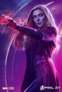 Poster A3 Vengadores Avengers Infinity War Bruja Escarlata / Scarlet Witch