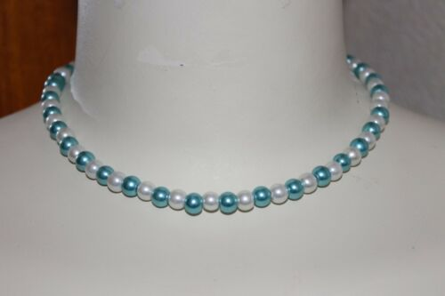BUY4GET1FREE MIX COLOUR GLASS PEARL TEEN LADIES CHOKER OR SHORT FASHION NECKLACE