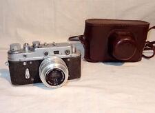 Vintage USSR Camera ZORKI 2c + Industar 50 (silver) 3.5/50mm