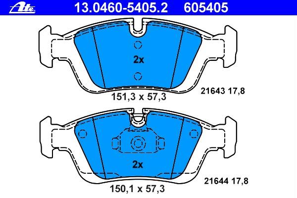 Bremsbelagsatz Scheibenbremse - ATE 13.0460-5405.2