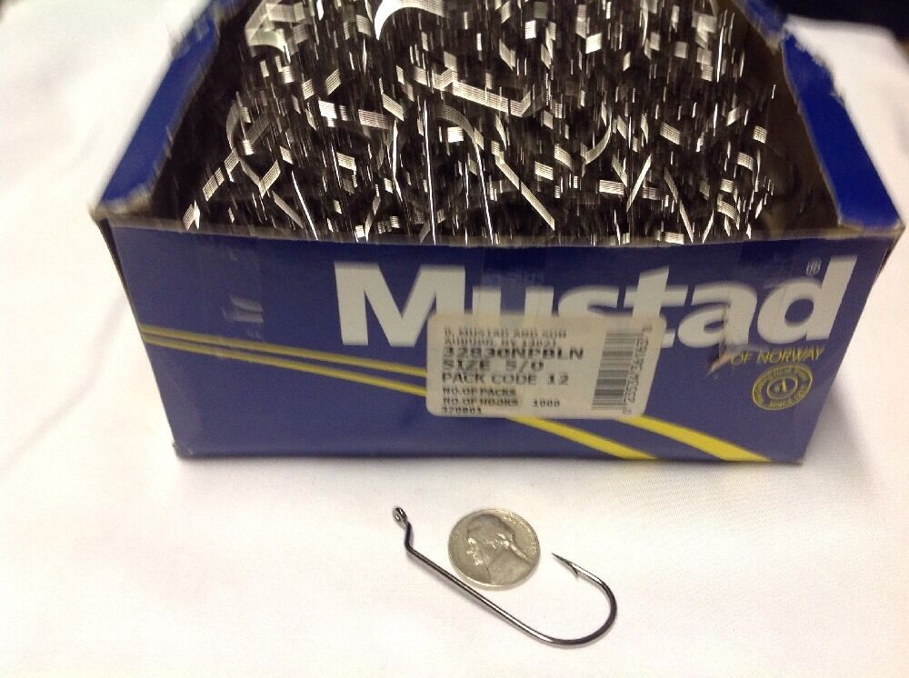 Mustad 32830 NPBLN 5 0 Bass Jig Hook 1000 Count