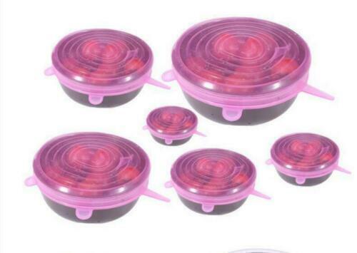 Silikondeckel Dehnbare Frischhalte Silikondeckel 6 Stücke