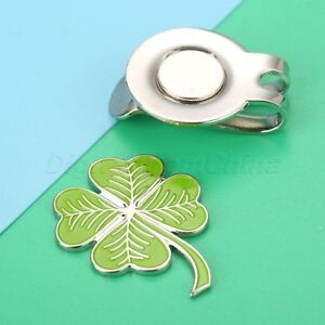 Four Leaf Clover Magnetic Hat Clip With Golf Ball Marker Rub For ... 59999dca3782