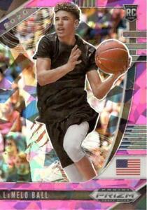 2020-21 Prizm Draft Picks LaMelo Ball #3 Pink Cracked Ice RC Charlotte Hornets