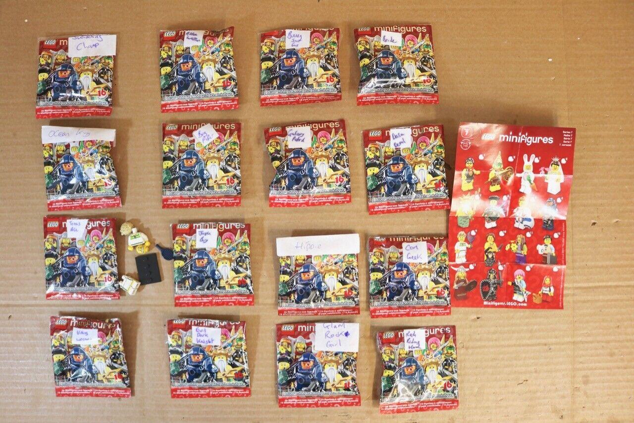 LEGO Minifigures 8831 série 7 Série complète de 16 figurines ouvert en Sac NR