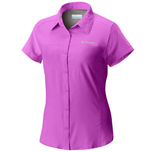 Camicia ventilata Shirt Omni manica Columbia a shade Columbia Sleeve New Short donna corta New Womens Vented Omni da shade 1qr1twUx