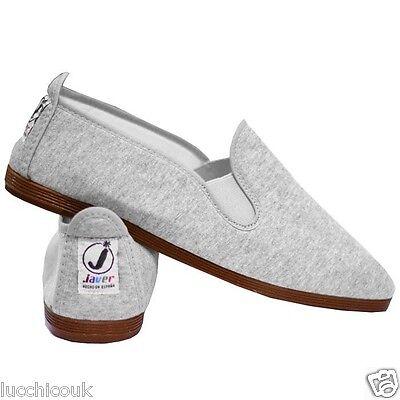 DAMEN JAVER FLOSSY STYLE ESPADRILLE PLIMSOLLS FLACHE DAMEN Schuhgrößen 2-7