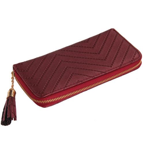 Women Ladies Leather Wallet Long Zip Purse Card Holder Case Clutch Handbag UK