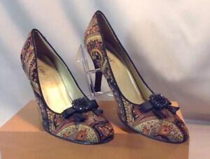 cami 35 in slim high heel beige black gold sparkle closed