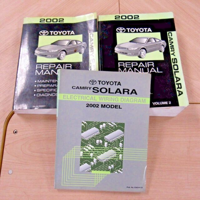 2002 Toyota Camry Solara Repair Manuals 02 Original Wiring
