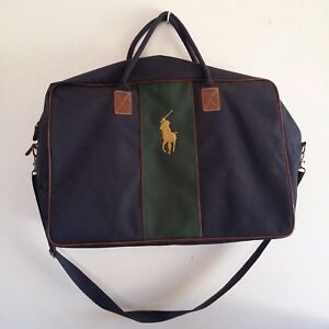 9799644c0371 Ralph Lauren Polo Large Duffel Bag Holdall Canvas Travel Luggage Big ...