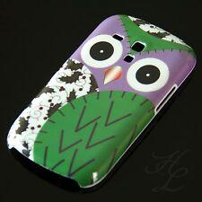 Samsung Galaxy S3 mini i8190 Hard Case Handy Schale Schutz Hülle Grüne Eule Owl