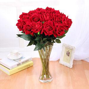 rot baccararose kunstblumen seidenblumen k nstliche blumen baccara rose 67cm ebay. Black Bedroom Furniture Sets. Home Design Ideas