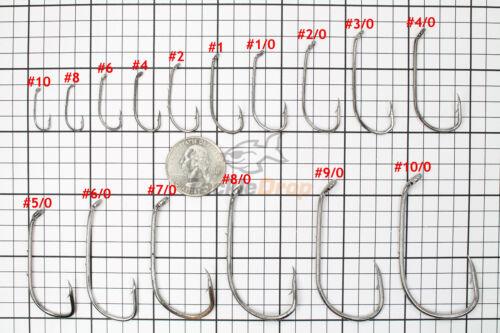 100x #10//0 Baitholder Fishing Hooks Offset Strong Chemically Sharpened Jig USA!
