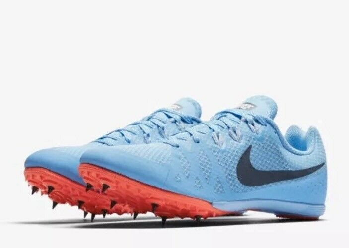 Nike Zoom Rival M 8 Men's Track Sprint Spikes 806555 446 bluee Size 12
