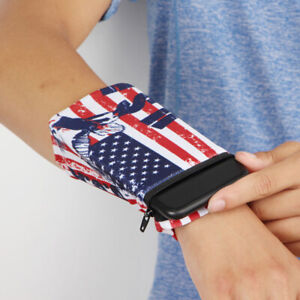 Sports Wrist Wallet Pouch Band Zipper Running Travel Gym Hide Money ID Card Case