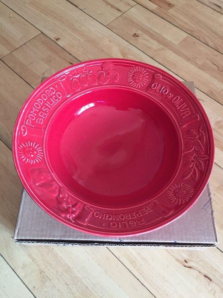 Virginia Casa 34cm PASTA BOWL-rosso (rosso)