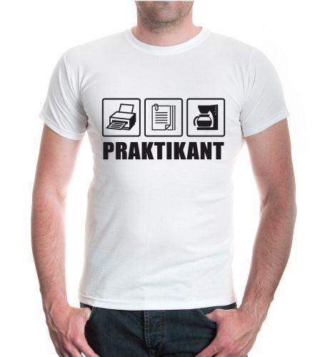 Hommes unisexe manches courtes T-shirt stagiaire Café Imprimer non payé