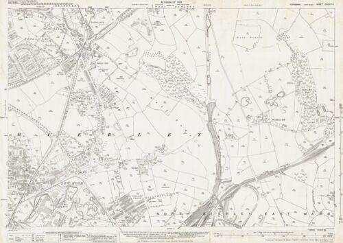 Odsal Yorkshire old map repro 216-16-1932 Low Moor