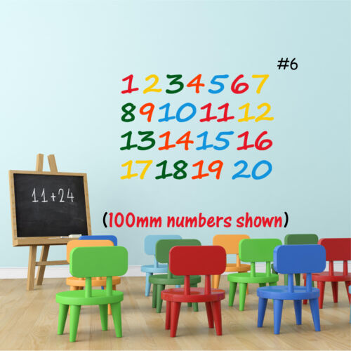 100mm Vinyl Art NUMBERS Wall Sticker Learning Girls Boys Bedroom Nursery  50mm