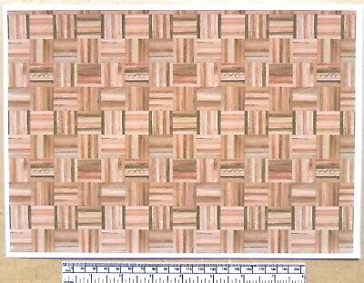 """1//12th dolls house /""""Wood shingles fish-scale/"""" type/"""" self adhesive vinyl A4"""