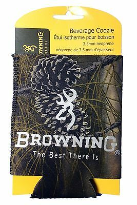 Koozie,Browning RealTree Camo Can Cooler,Can Huggie,Browning Buck Mark Logo