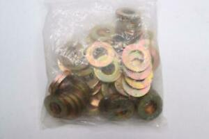 50-PACK-SAE-Flat-Washers-Zinc-Plated-Grade-8-Steel-Yellow-5-8-034