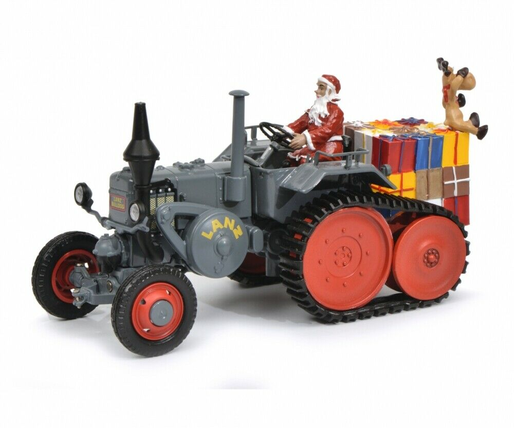 Schuco 1 32 Lanz tractor with caterpillar Christmas Time 450770300