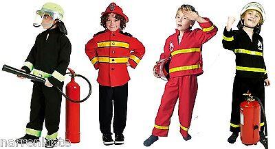 Feuerwehrmann Feuerwehr Anzug Kinder Kostüm Uniform Helm Feuerwehrhelm Junge Set | eBay