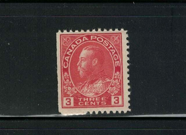 CANADA-MNH-K.G.V ADMIRAL ISSUE #109 CARMINE DIE ONE F/VF SEE PHOTO