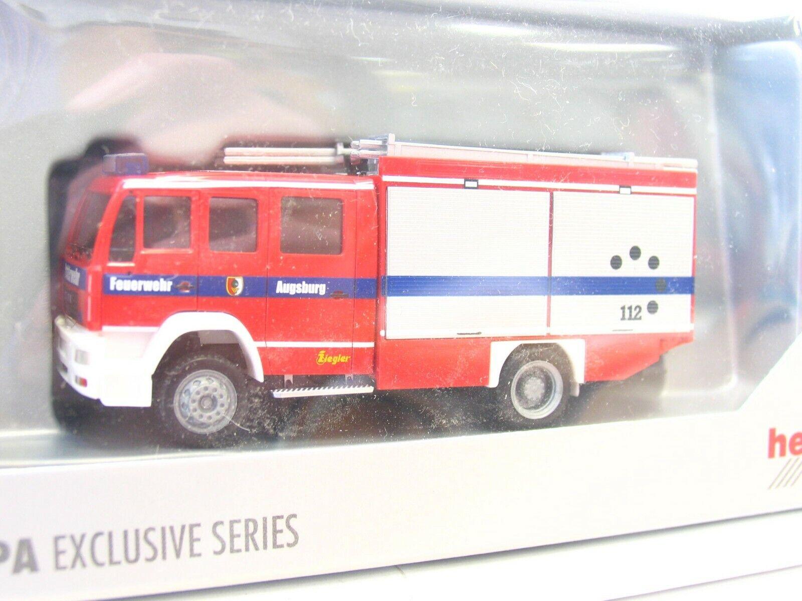 HERPA 1 87 man le2000 LF 16 12 pompiers Augsbourg neuf dans sa boîte (ln2700)
