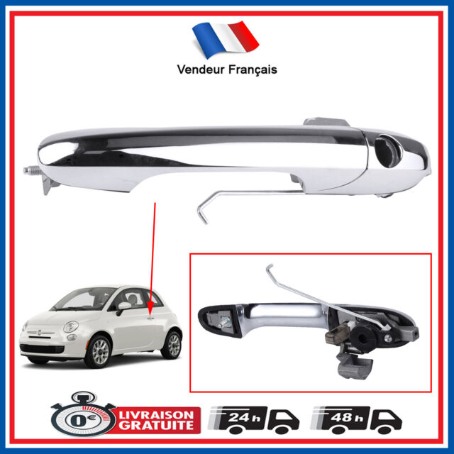 Door Handle Front Left Chrome Driver Page for Fiat 500 since 2007