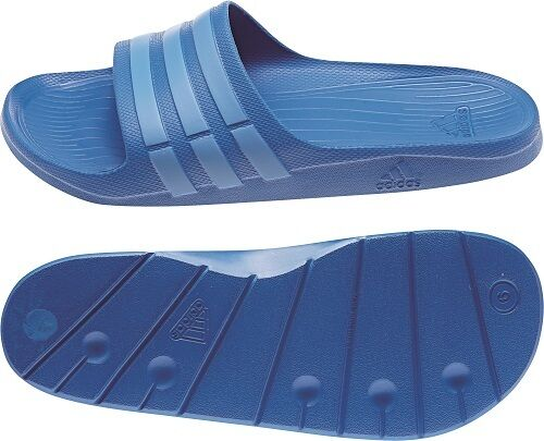 59c4e2c88 adidas Adilette Duramo Slide Bath Shoes Bath Slippers to Size. 55 UK 17  B44297 Light Blue