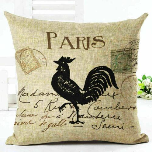 """Retro Linen Cotton Fashion Throw Pillow Case Cushion Cover Home Sofa Decor 18/"""""""