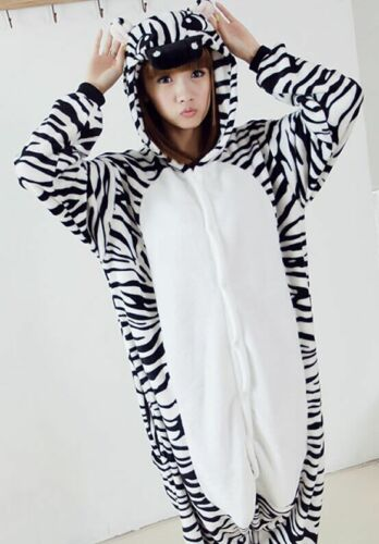 Hot Unisex Adult Pajamas Kigurumi Cosplay Costume Animal Sleepwear