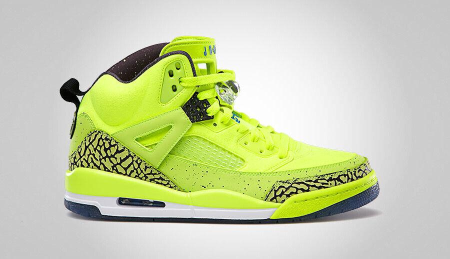 2013 Nike Air Jordan Spizike BHM SZ 9 Volt Black Photo bluee OG Retro 579593-712