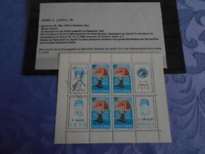 Apollo 13 Sheet original signiert James Lovell Space