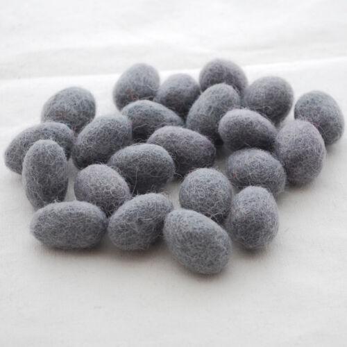 10 compter-approx 18mm x 28mm 100/% laine feutre œufs-main feutrés mini œufs