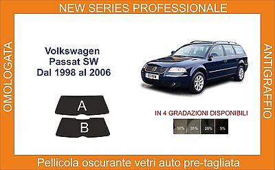 pellicole oscuranti vetri volkswagen passat sw da 1998 a 2006 kit lunotto