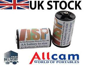 2-Pieces-AA-battery-to-size-D-Battery-Adapters-JSP-brand-New
