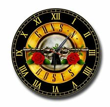GUNS AND ROSES 250MM DIAMETER CLOCK,SWEET CHILD O' MINE, NOVEMBER RAIN, MUSIC