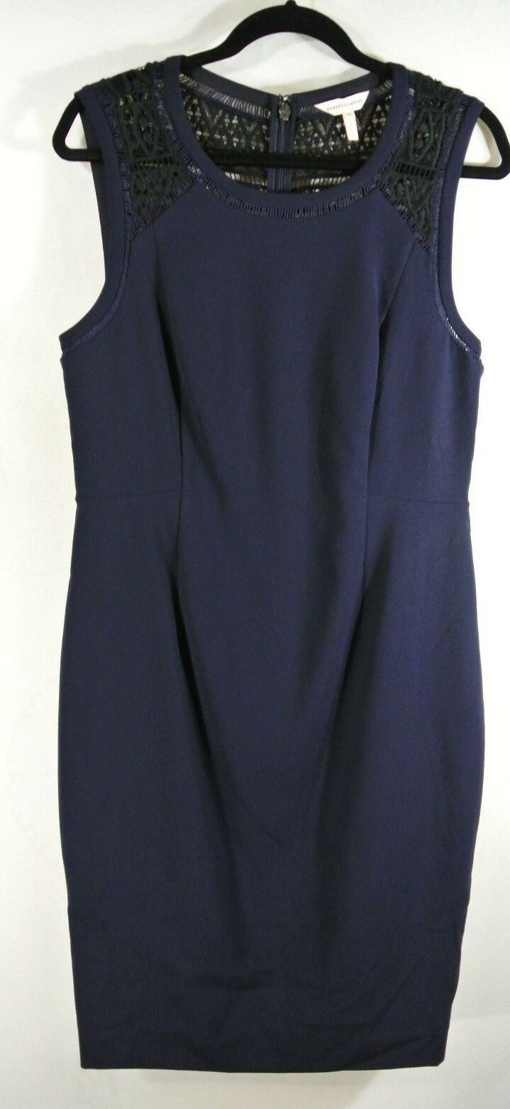 NEW Rebecca Taylor Shift Dress with Lace in Navy Navy Navy - Size 12 d8e5a5